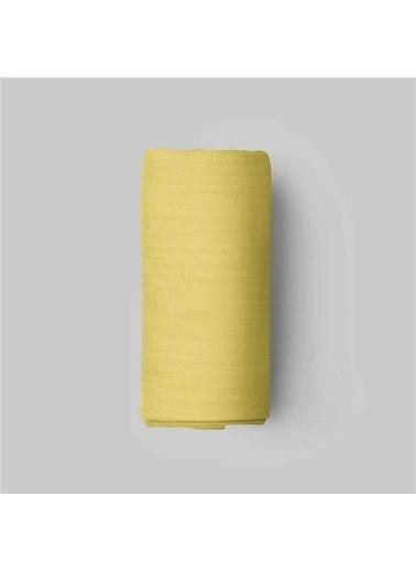 Maki Sarı 90x190 Tek Kişilik Lastikli Çarşaf Takımı Renkli